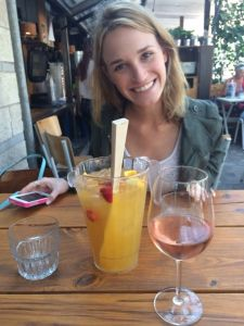 Enjoying some cava sangria at Makamaka!