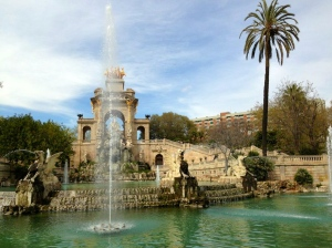 The big fountain at the heart of Ciutadella park